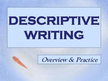 Descriptive Writing Mini-lesson