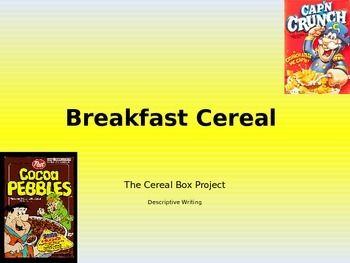 Descriptive Writing New Breakfast Cereal