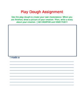 Descriptive Writing Play Doh Activity