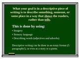 Descriptive Writing PowerPoint Presentation