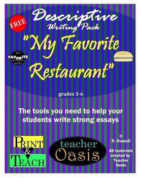 "Descriptive Writing Prompt ""My Favorite Restaurant"""