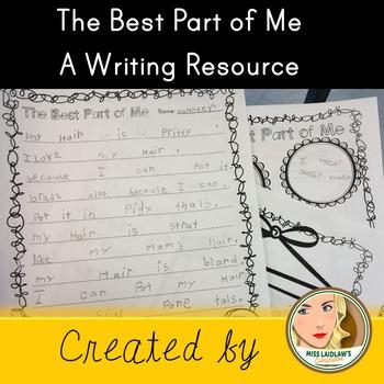 Descriptive Writing - Best Part of Me - Self Esteem and Bo