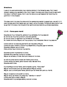 Family story #1 Flowers for mom can be used with Descubre