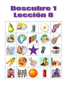 Descubre 1 Lección 8 Bingo game