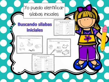 Descubriendo Silabas Iniciales/ Discovering beginning syll