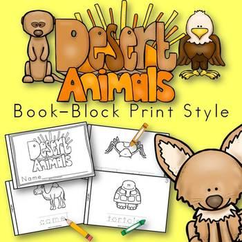 Desert Animals Book for Kindergarten and 1st Grade {Block