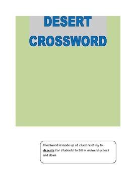 Desert Crossword