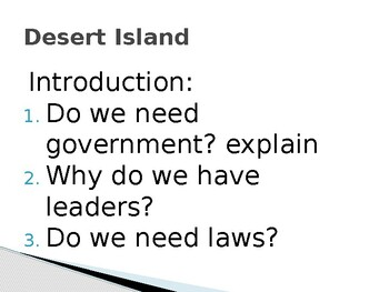 Desert Island- Why is government and law important?