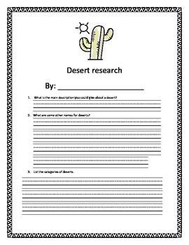 Desert Webquest