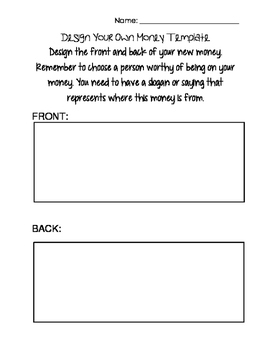 Design Your Own Money Template