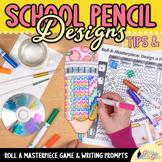 Design a Pencil Game - Back to School Ideas - Art Sub Plan