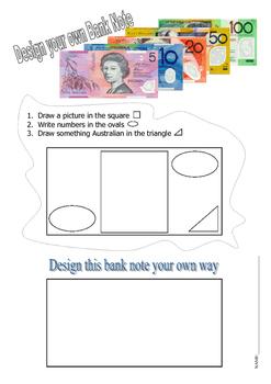 Design a bank note (Australian)