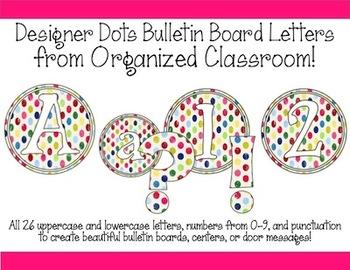 Designer Dots Bulletin Board Letters