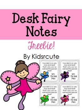Desk Fairy Notes {Freebie}