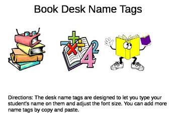 Desk Name Plates -- Books