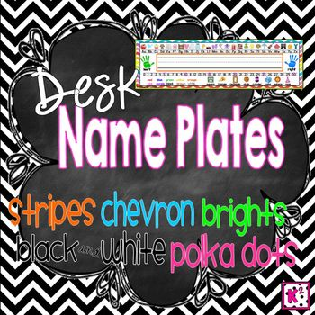 Desk Name Plates - Brights, Stripes, Chevron and More! 4x14
