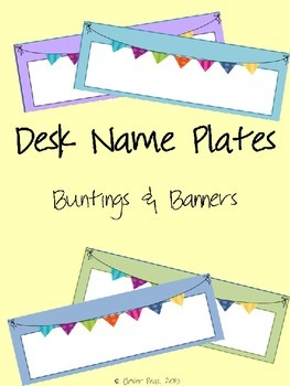 Desk Name Plates-Editable