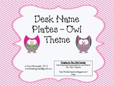Desk Name Plates - Owl Theme