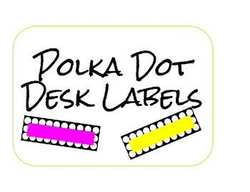 Desk Name Plates (Polka Dot with colors)