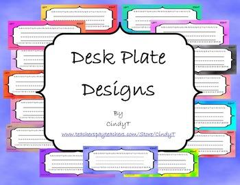 Desk Plate Designs-- Cloudy Skies