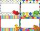 Desk Plates, Labels, Tags & More!  ***EDITABLE***  ~Colorf