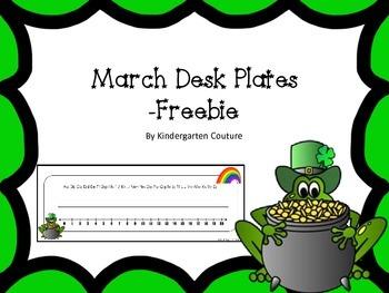 Desk Plates - March Freebie
