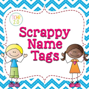 Desk Plates Name Tags Back to School Scrappy Kids