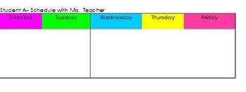 Desk Schedule
