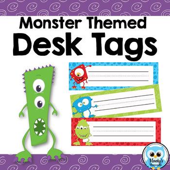 Desk Tags - Monster Themed
