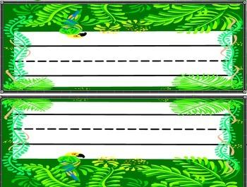 Desk plates - Jungle Theme