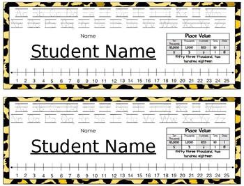 Deskplates/ Name Tags- Leopard Print, Cursive