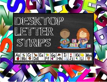 Desktop Letter Strips (The Alphabet)