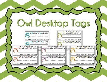 Desktop Name Tags - Owl