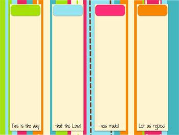 Desktop Organizer Editable - Dots on Turquoise