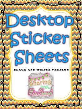 Desktop Sticker Sheets