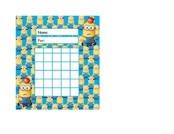 Despicable Me Minion Behavior Rewards Sticker Charts
