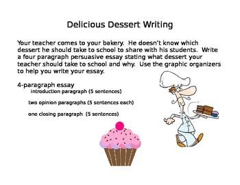 Dessert Persuasive Writing