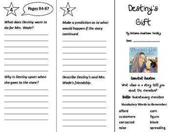 Destiny's Gift Trifold - Journeys 3rd Grade Unit 1 Week 3