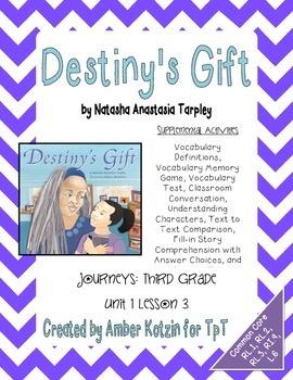 Destiny's Gift Supplemental Activities 3rd Grade Journeys
