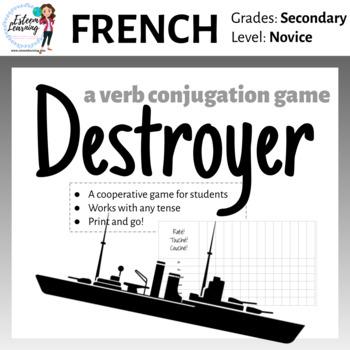 Destroyer - A Verb Conjugation Game - Practice Conjugating