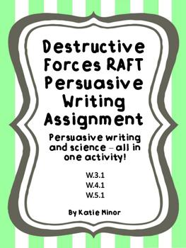 Destructive Forces - Persuasive Writing RAFT {Volcano, Ear