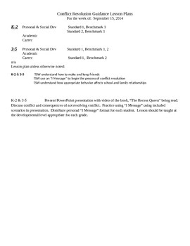 Detailed lesson plan-Conflict Resolution- to go w/ PowerPo