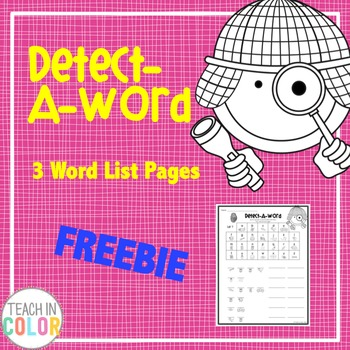 Detect-A-Word Sight Word Activity // FREEBIE