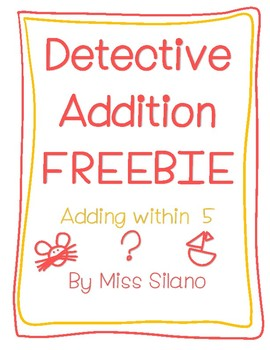 Detective Addition Worksheets FREEBIE