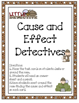 Detective Cause and Effect Scoot Game