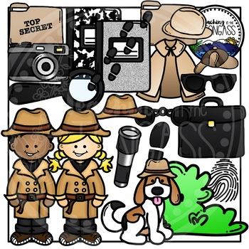 Detective Clipart Bundle