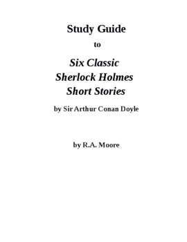 """""""Detective Fiction"""": Six Sherlock Holmes Short Stories by"""