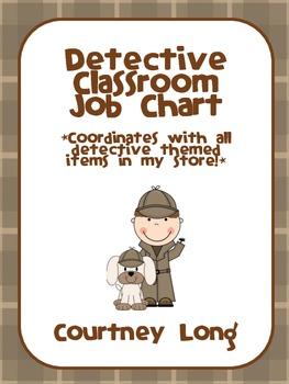 EDITABLE Detective Theme Classroom Job Chart