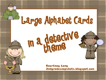 Detective Theme Large Letter Cards