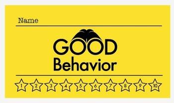 Detective Theme and No Theme: Good Behavior Punch Card (K-6)
